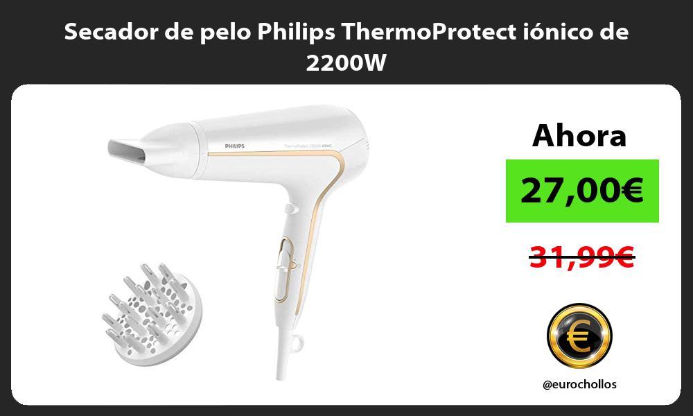Secador de pelo Philips ThermoProtect iónico de 2200W