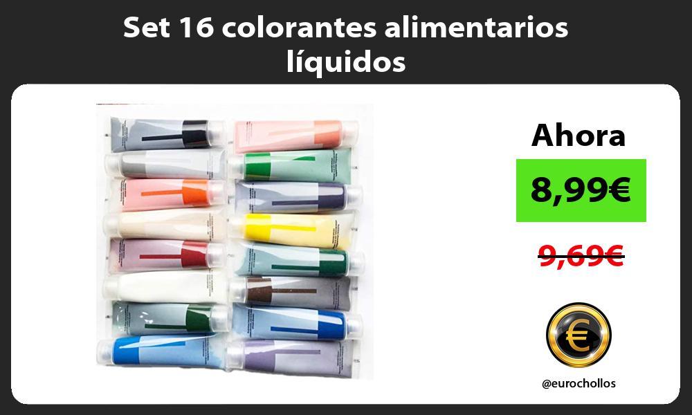 Set 16 colorantes alimentarios líquidos