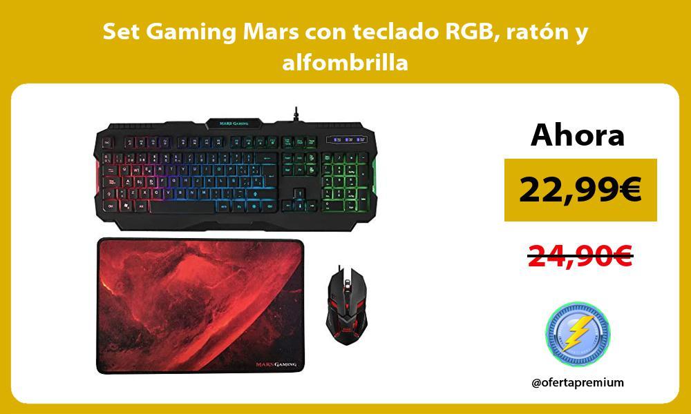 Set Gaming Mars con teclado RGB ratón y alfombrilla