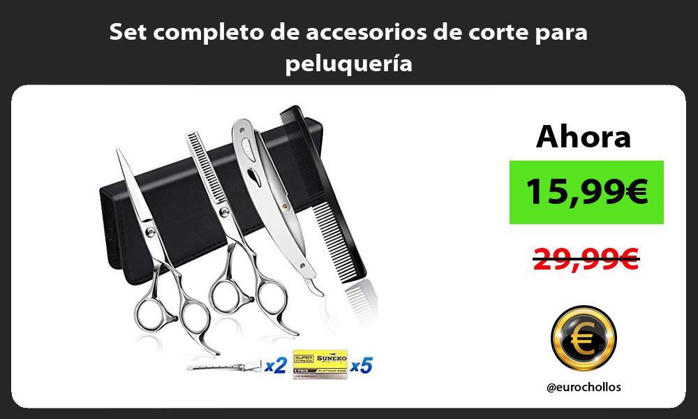Set completo de accesorios de corte para peluquería