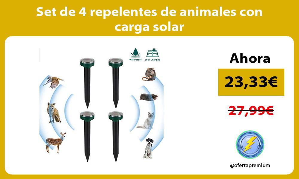 Set de 4 repelentes de animales con carga solar