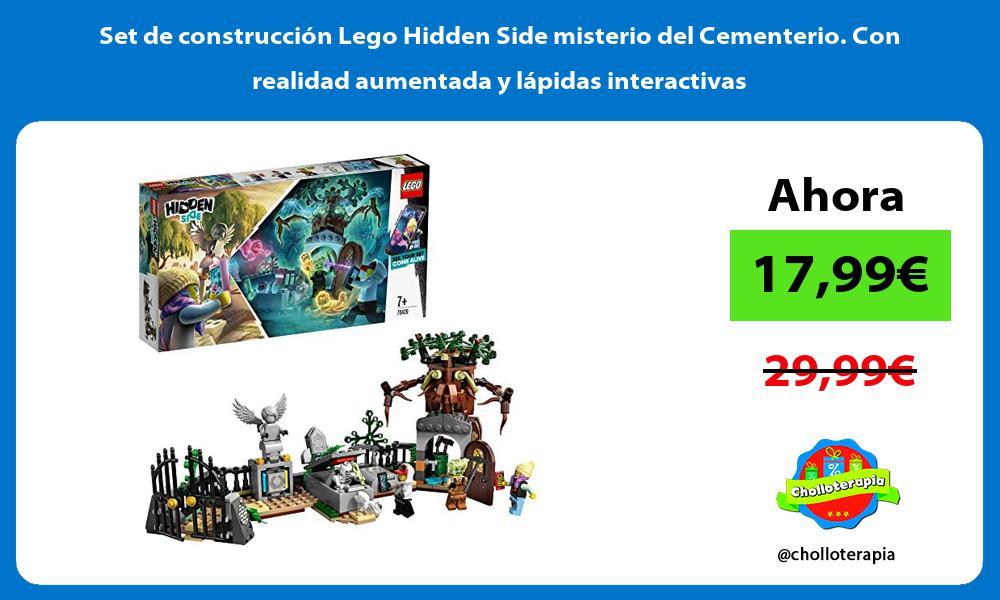 Set de construcción Lego Hidden Side misterio del Cementerio Con realidad aumentada y lápidas interactivas