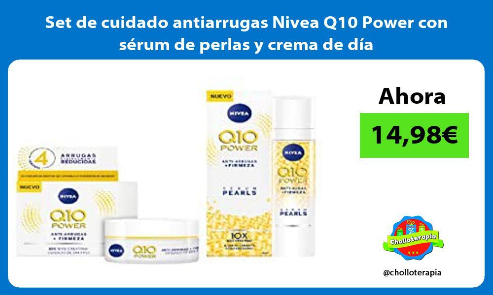 Set de cuidado antiarrugas Nivea Q10 Power con sérum de perlas y crema de día