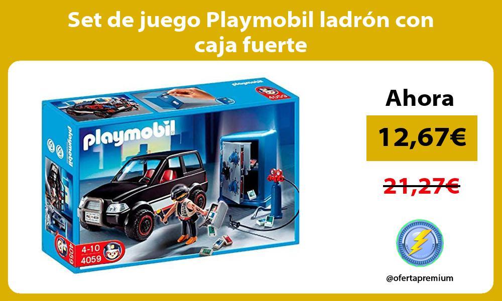 Set de juego Playmobil ladrón con caja fuerte