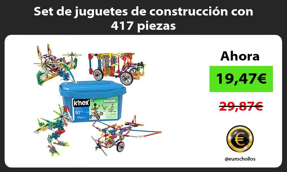 Set de juguetes de construcción con 417 piezas