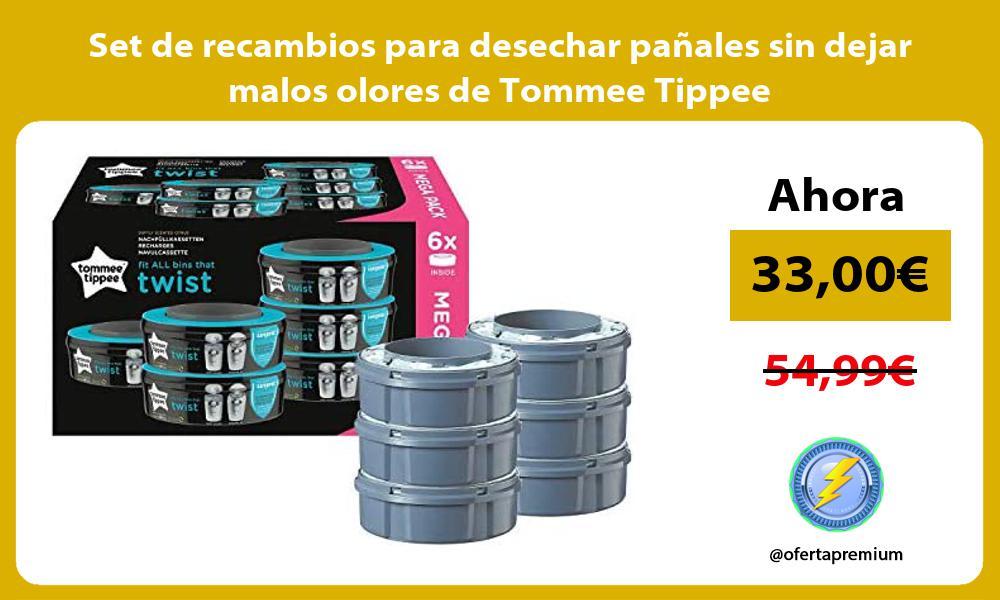 Set de recambios para desechar pañales sin dejar malos olores de Tommee Tippee