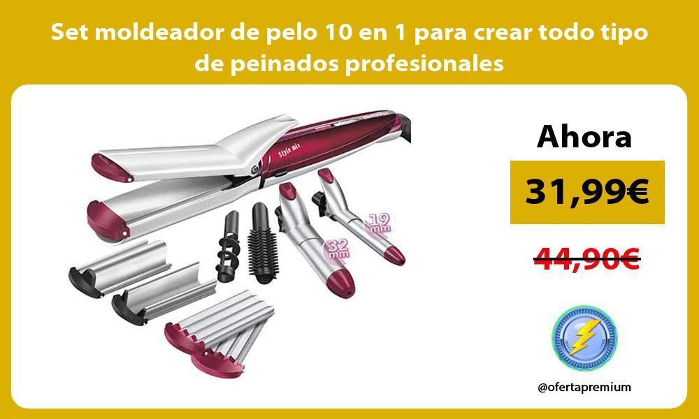 Set moldeador de pelo 10 en 1 para crear todo tipo de peinados profesionales