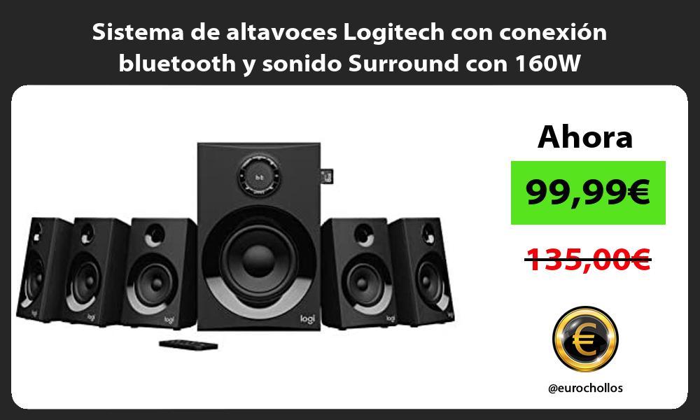 Sistema de altavoces Logitech con conexión bluetooth y sonido Surround con 160W