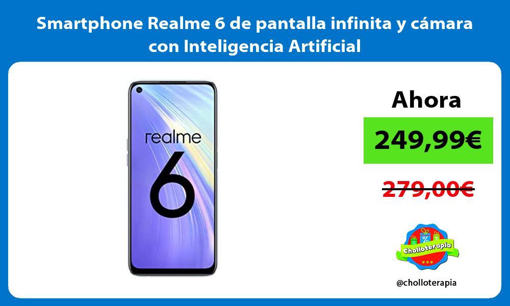 Smartphone Realme 6 de pantalla infinita y cámara con Inteligencia Artificial