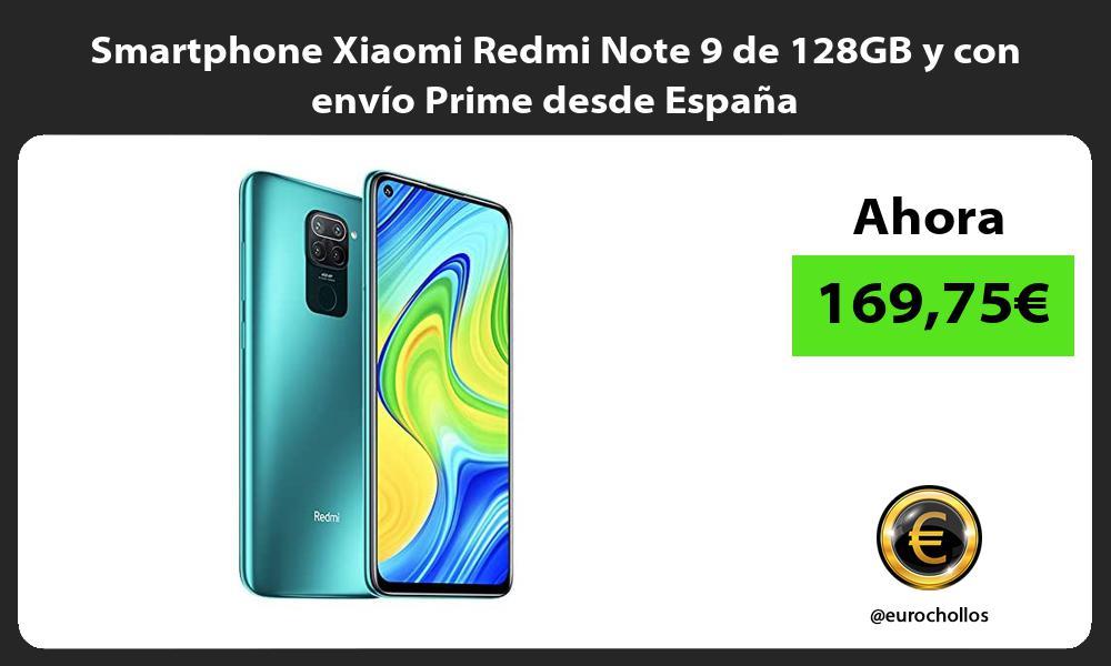 Smartphone Xiaomi Redmi Note 9 de 128GB y con envío Prime desde España