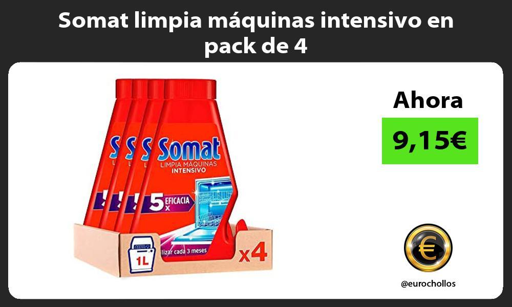Somat limpia máquinas intensivo en pack de 4