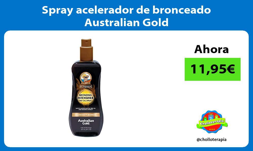 Spray acelerador de bronceado Australian Gold