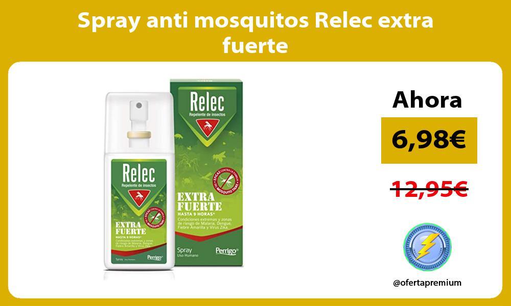 Spray anti mosquitos Relec extra fuerte