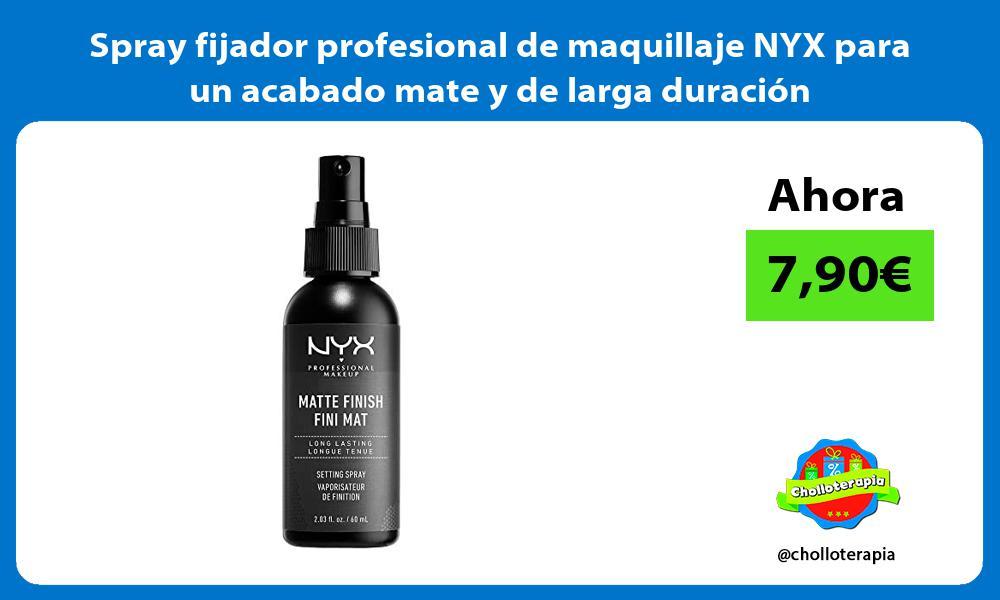 Spray fijador profesional de maquillaje NYX para un acabado mate y de larga duración