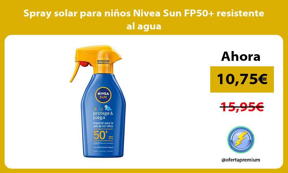 Spray solar para niños Nivea Sun FP50 resistente al agua