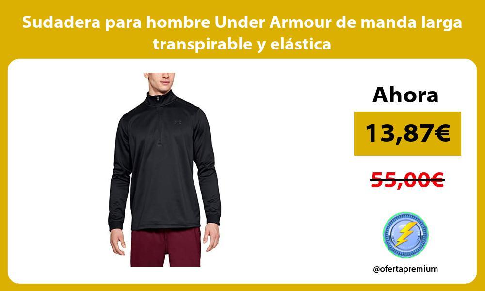 Sudadera para hombre Under Armour de manda larga transpirable y elástica