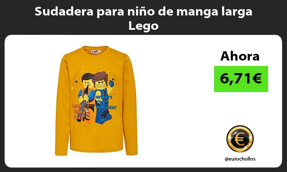 Sudadera para niño de manga larga Lego