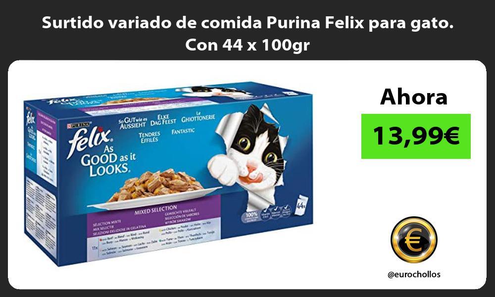 Surtido variado de comida Purina Felix para gato Con 44 x 100gr