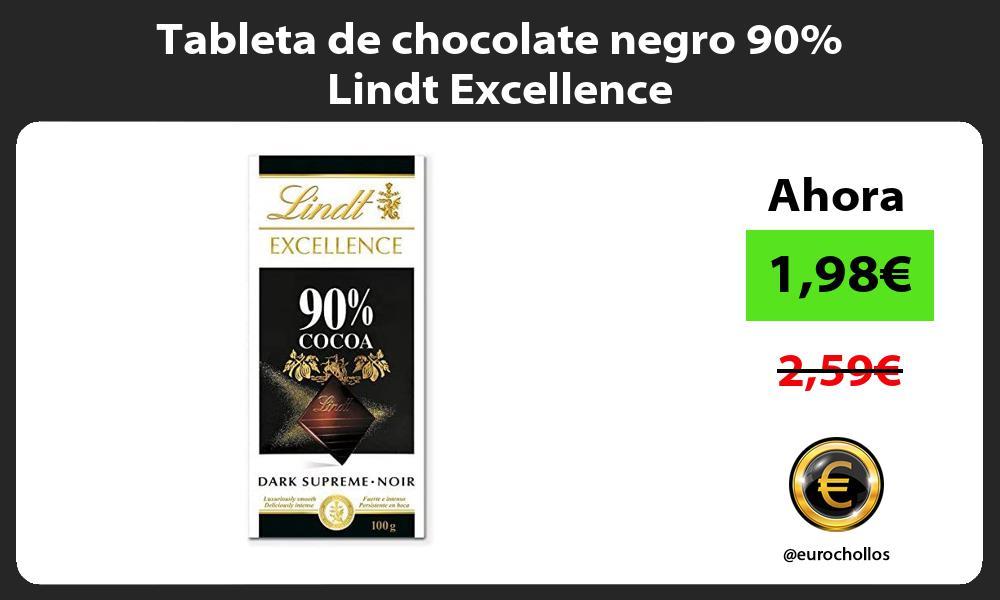 Tableta de chocolate negro 90 Lindt Excellence