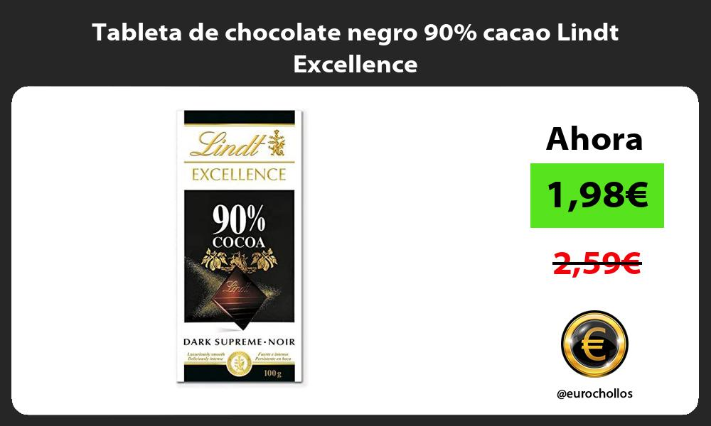 Tableta de chocolate negro 90 cacao Lindt Excellence