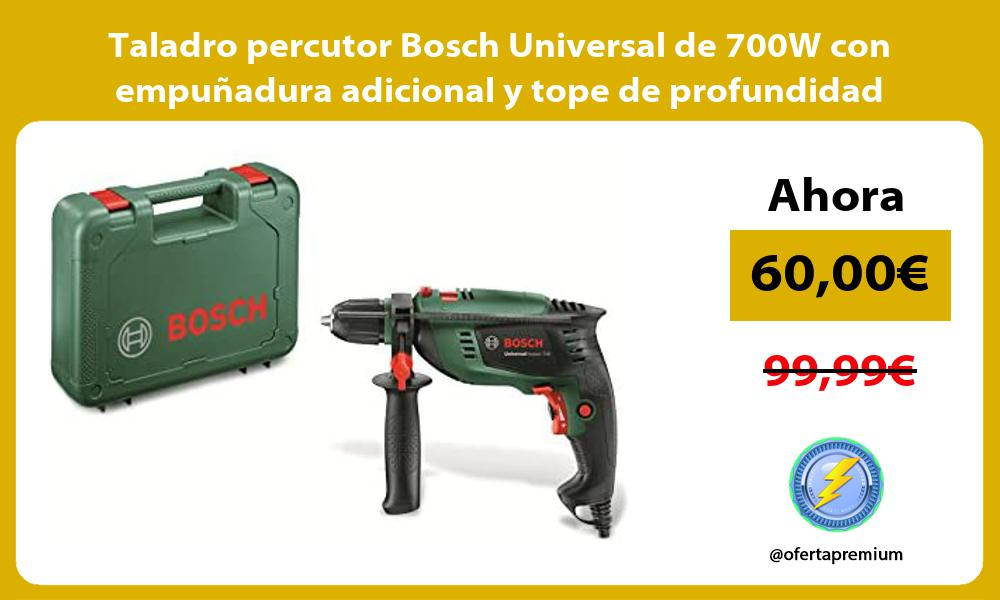 Taladro percutor Bosch Universal de 700W con empuñadura adicional y tope de profundidad