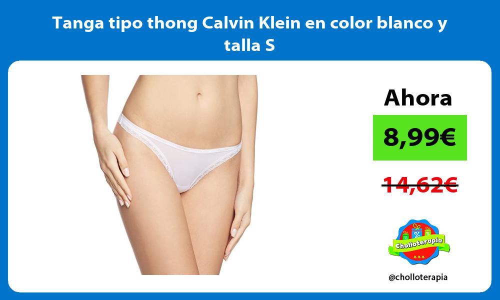 Tanga tipo thong Calvin Klein en color blanco y talla S