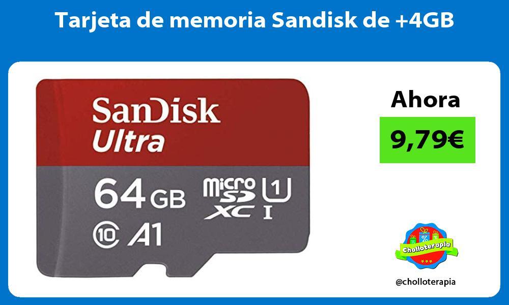 Tarjeta de memoria Sandisk de 4GB