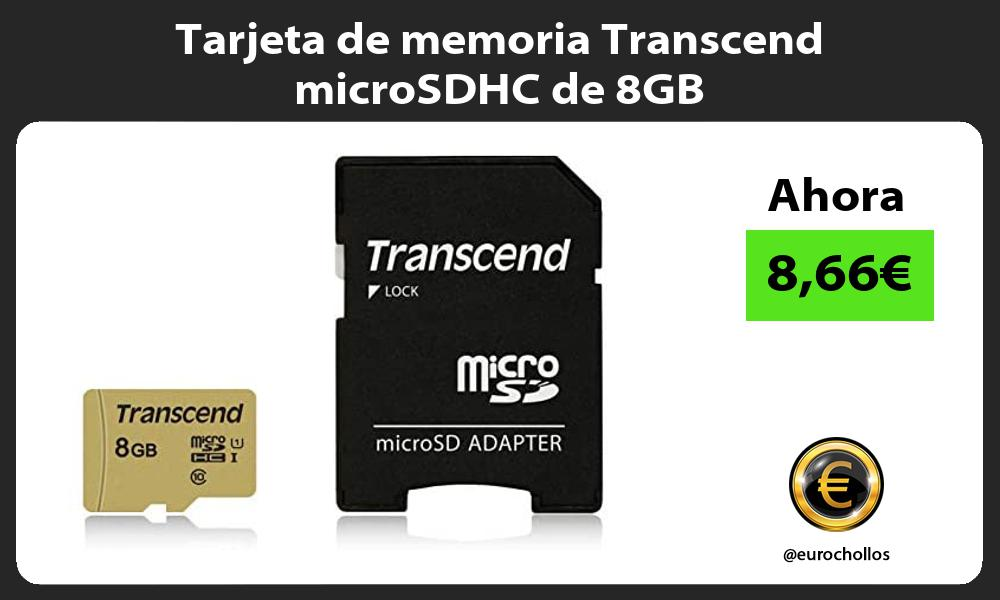Tarjeta de memoria Transcend microSDHC de 8GB