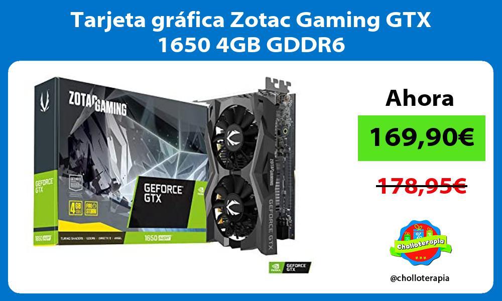 Tarjeta gráfica Zotac Gaming GTX 1650 4GB GDDR6