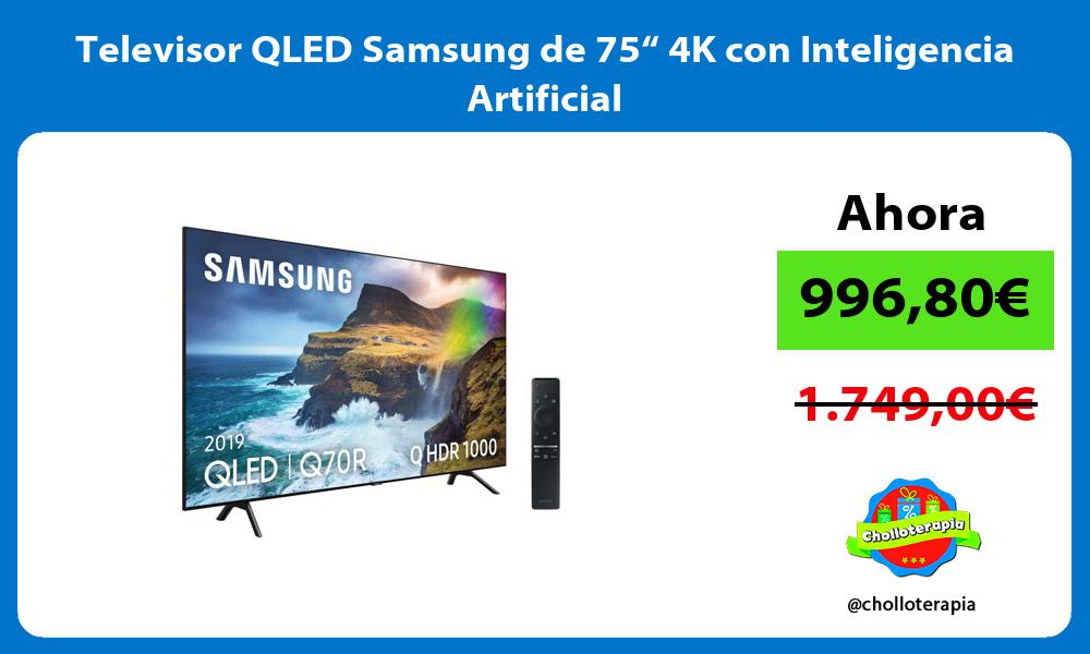 "Televisor QLED Samsung de 75"" 4K con Inteligencia Artificial"