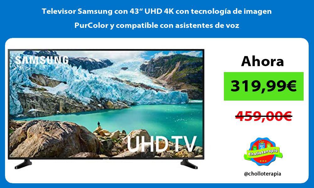 """Televisor Samsung con 43"""" UHD 4K con tecnología de imagen PurColor y compatible con asistentes de voz"""