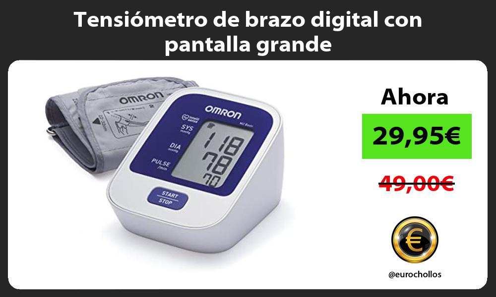 Tensiómetro de brazo digital con pantalla grande