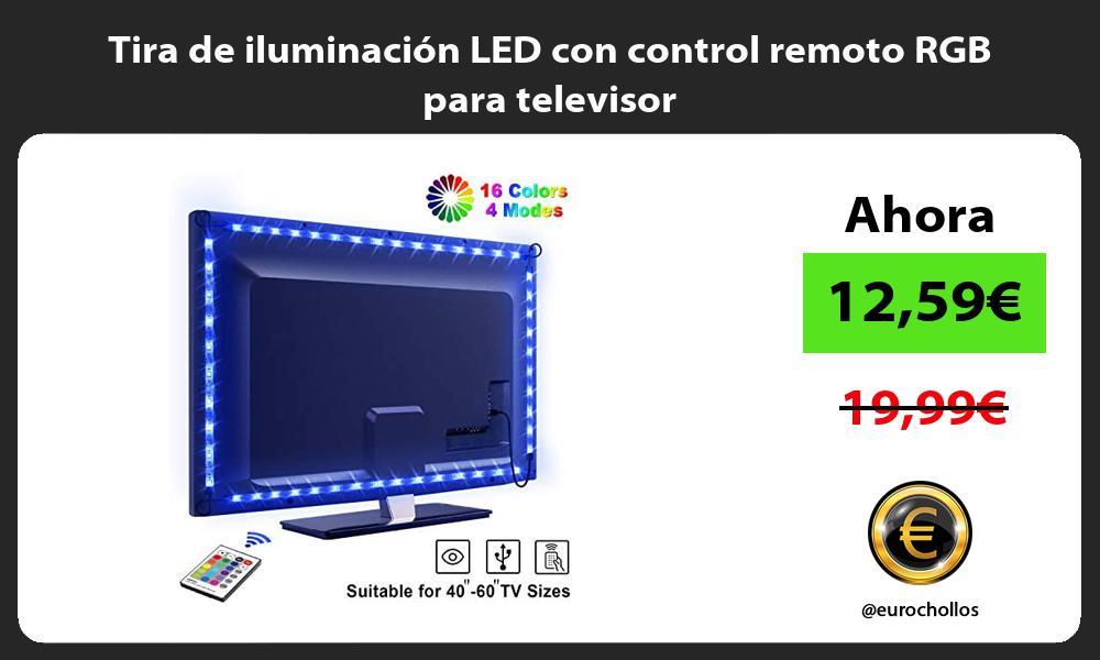 Tira de iluminación LED con control remoto RGB para televisor