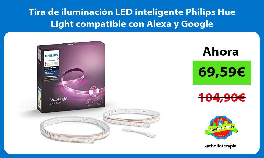 Tira de iluminación LED inteligente Philips Hue Light compatible con Alexa y Google