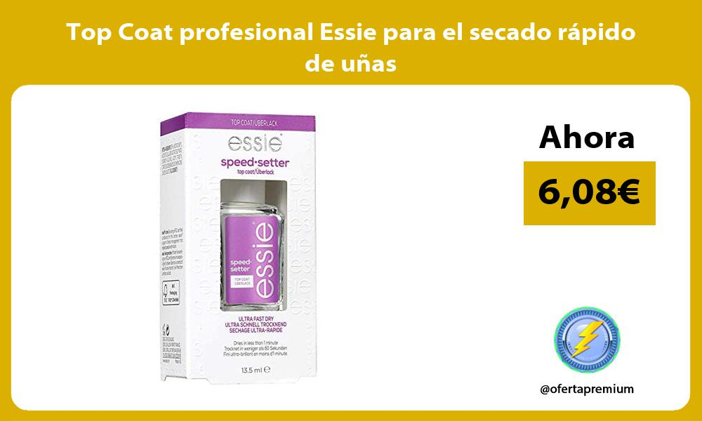 Top Coat profesional Essie para el secado rápido de uñas