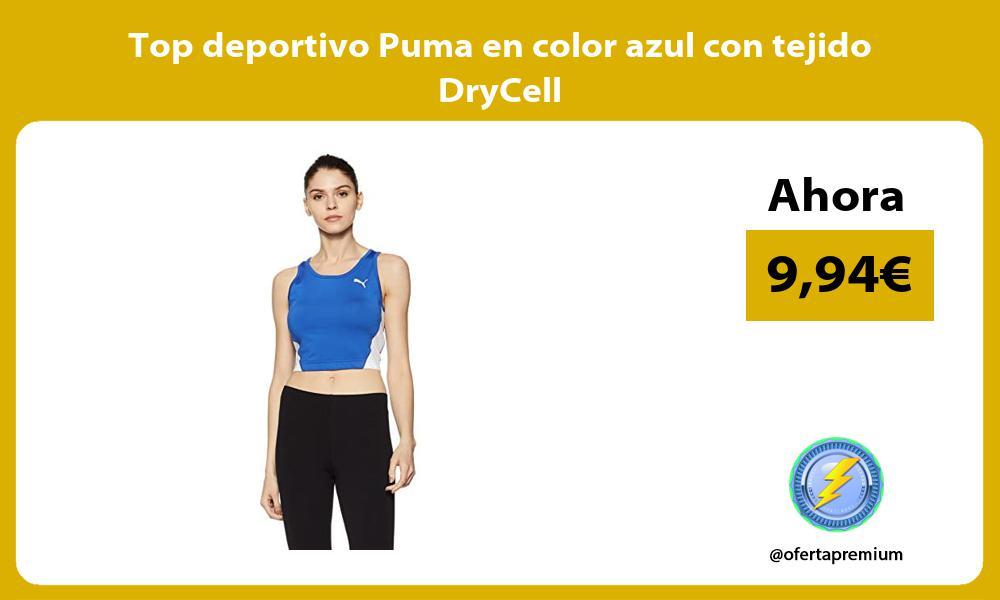 Top deportivo Puma en color azul con tejido DryCell