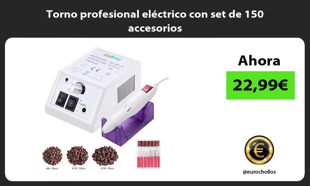 Torno profesional eléctrico con set de 150 accesorios