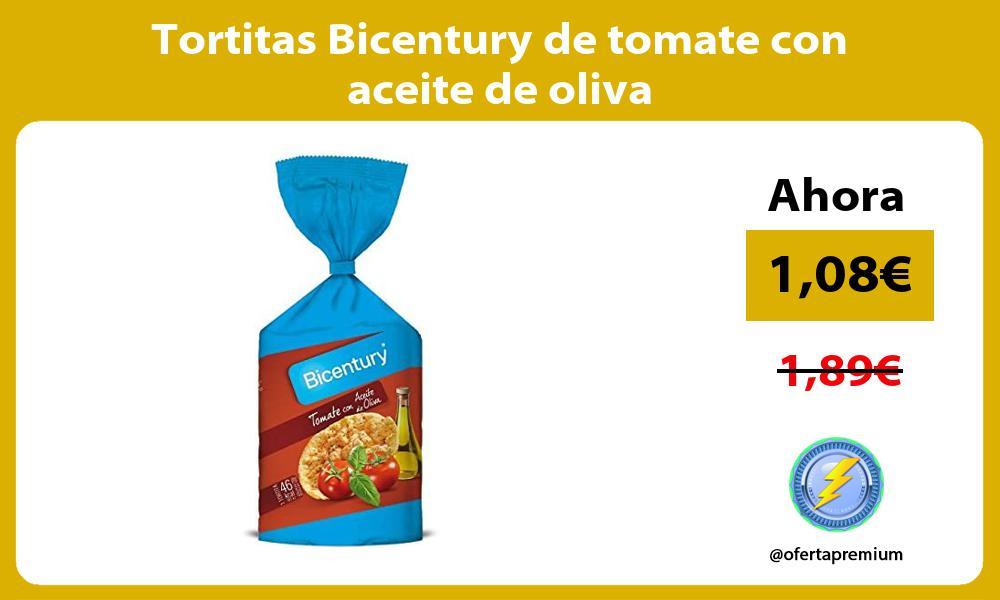 Tortitas Bicentury de tomate con aceite de oliva