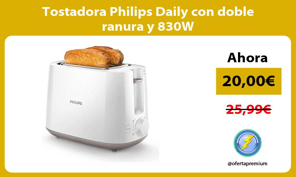 Tostadora Philips Daily con doble ranura y 830W