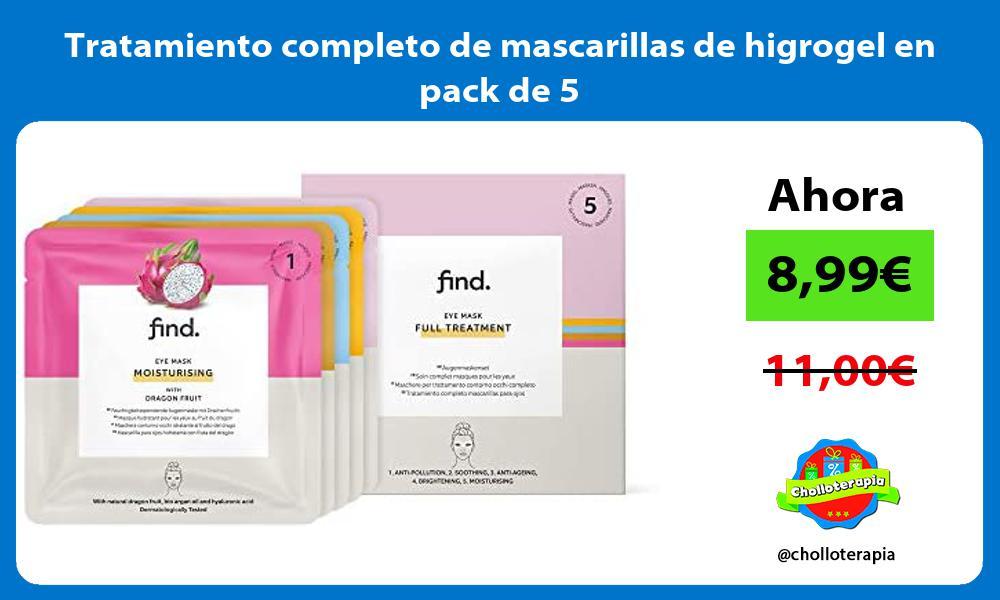 Tratamiento completo de mascarillas de higrogel en pack de 5
