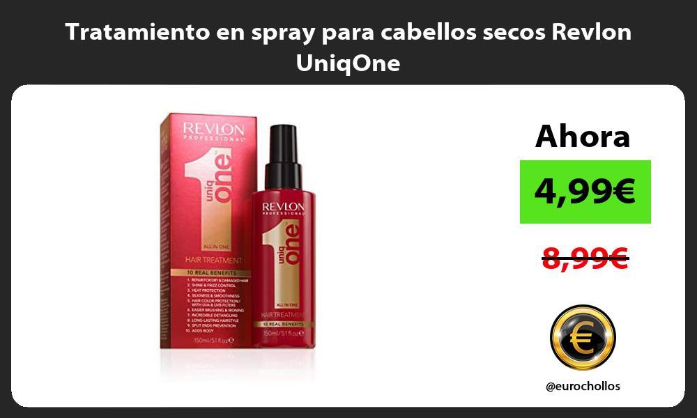Tratamiento en spray para cabellos secos Revlon UniqOne