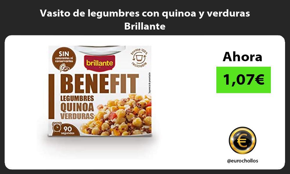 Vasito de legumbres con quinoa y verduras Brillante