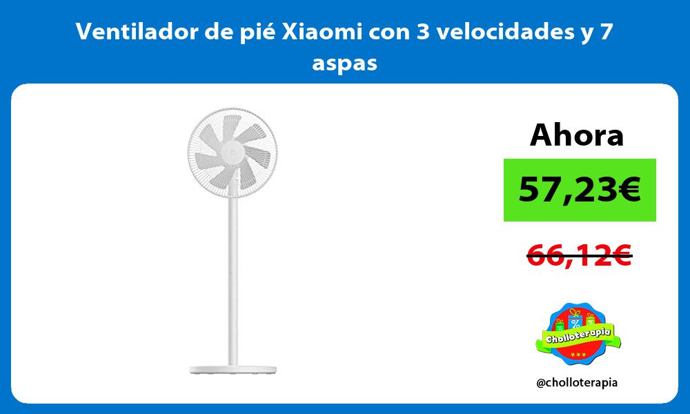 Ventilador de pié Xiaomi con 3 velocidades y 7 aspas