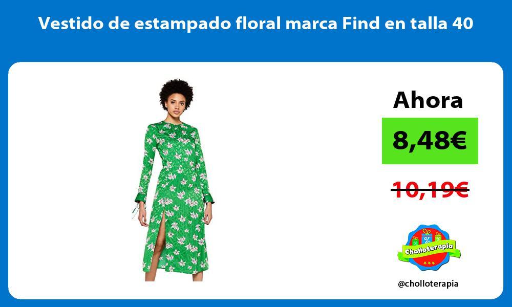 Vestido de estampado floral marca Find en talla 40
