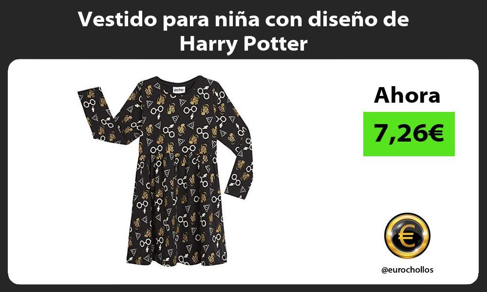 Vestido para niña con diseño de Harry Potter