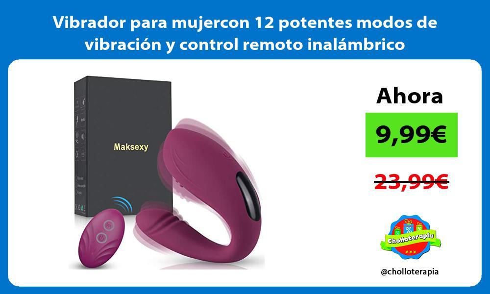 Vibrador para mujercon 12 potentes modos de vibración y control remoto inalámbrico