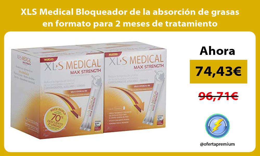 XLS Medical Bloqueador de la absorción de grasas en formato para 2 meses de tratamiento