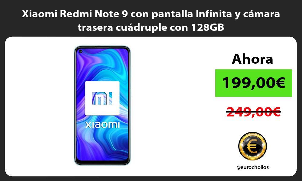 Xiaomi Redmi Note 9 con pantalla Infinita y cámara trasera cuádruple con 128GB
