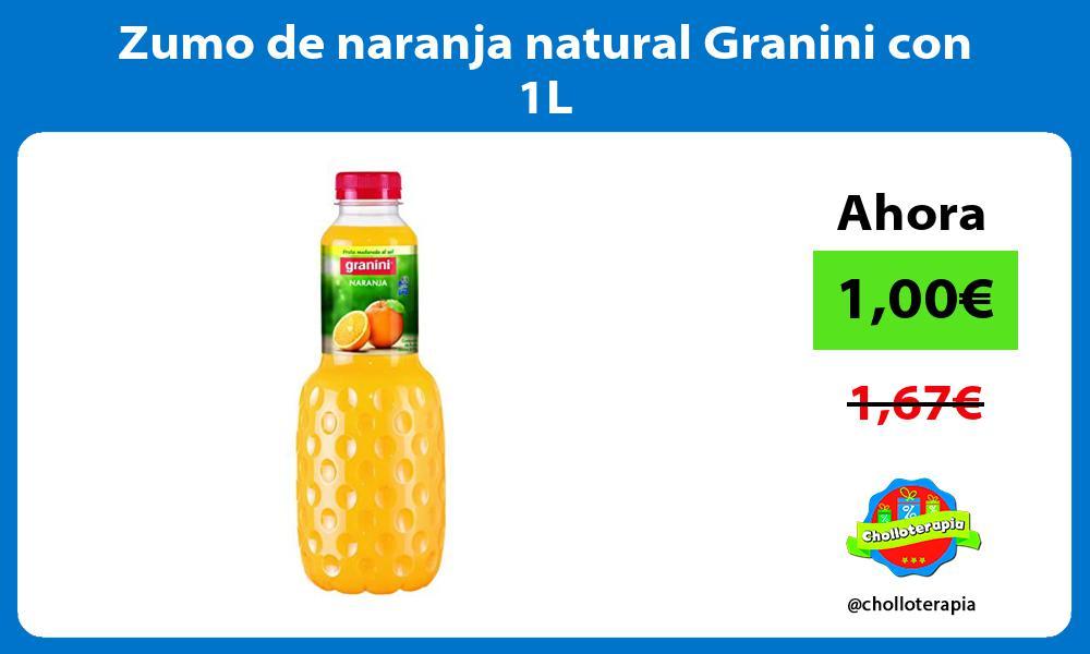 Zumo de naranja natural Granini con 1L