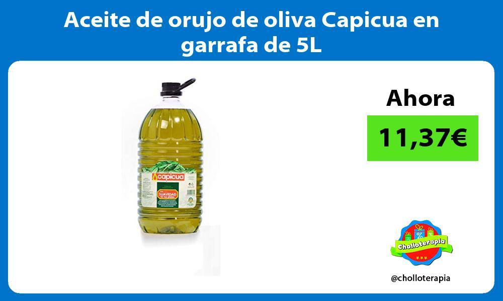 Aceite de orujo de oliva Capicua en garrafa de 5L